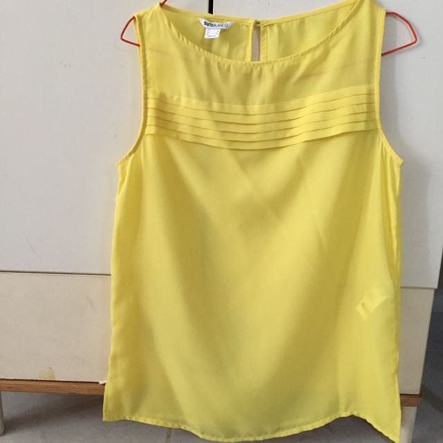 suit blanco yellow top size s
