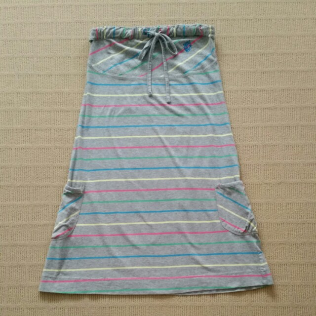 Summer stretch cotton dress