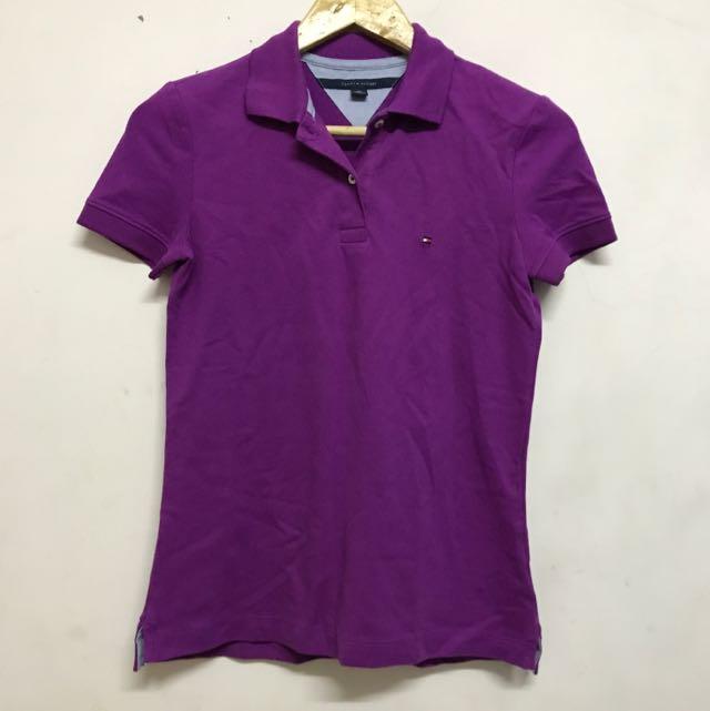 Tommy紫色polo衫 全新便宜賣