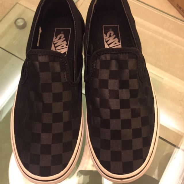 Vans格紋懶人鞋