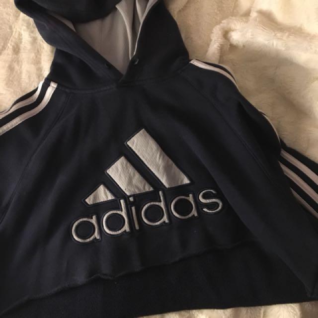 vintage adidas crop hoodie