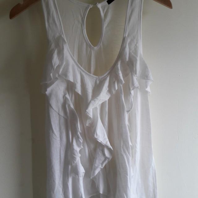White Rample Dress