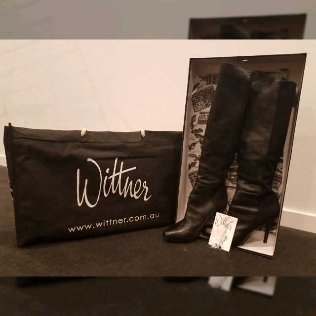 Wittner Black Locky Leather Boots