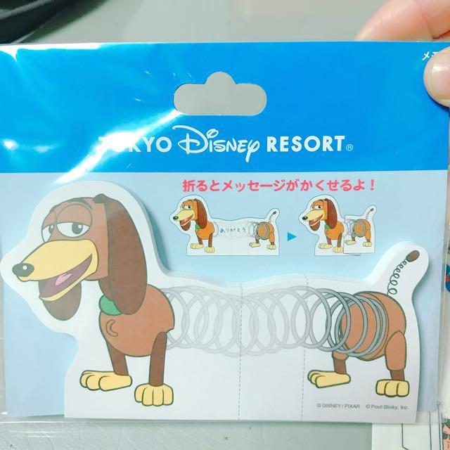 日本迪士尼x玩具總動員 彈簧狗造型 便利貼便條紙
