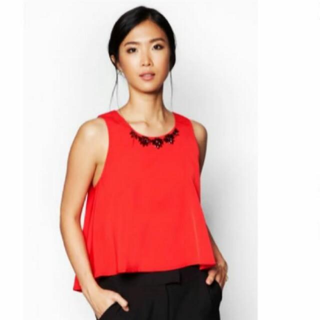 Zalora Red blouse