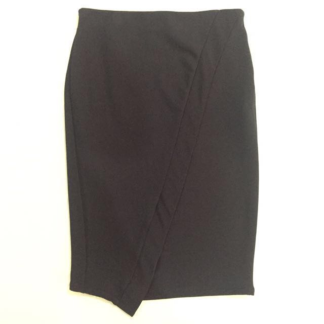 Zara Navy Tube Skirt