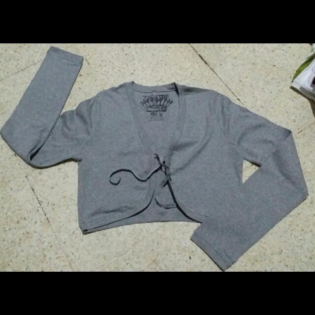 Zara TRF grey cardi