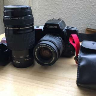 FILM CANON 底片 單眼相機 75 300MM 28 80MM AF 一機二鏡一閃