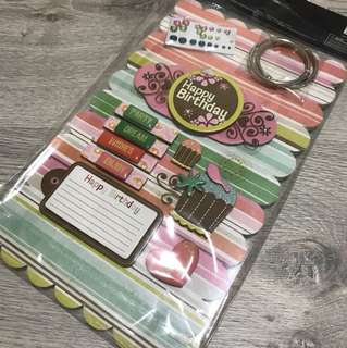 Brand New Sealed DIY Chipboard Album Kit  for house, home, art and craft, gift, happy birthday gift