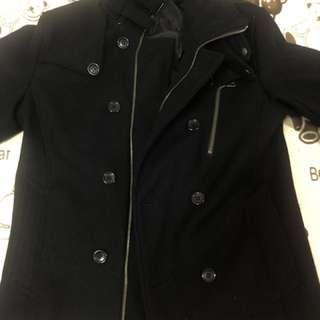 HaLb黑色騎士風外套