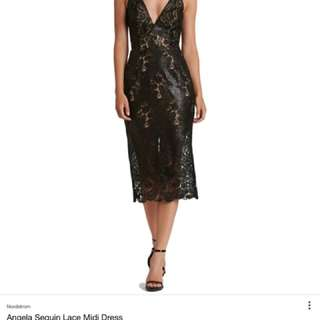 Dress The Population Angela Lace & Sequin Dress Size medium