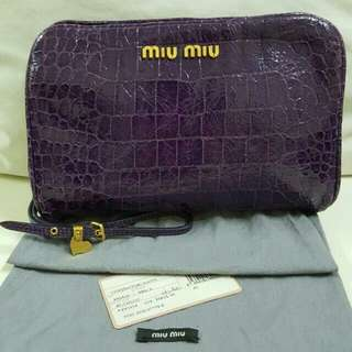 REPOST Fast Deal RM550 Authentic Miu Miu Wristlet Clearance