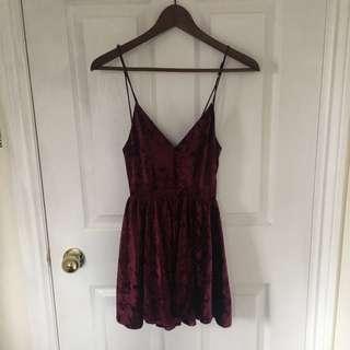 UO Crushed Velvet Dress/Romper