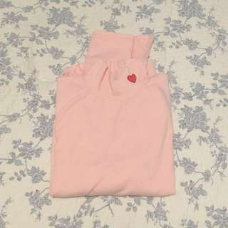 Pink Turtle Neck With Heart