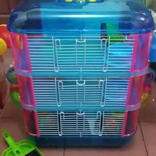Colorful Hamster Cage