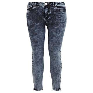 Miss Selfridges Acid Wash Petite Skinny Jeans