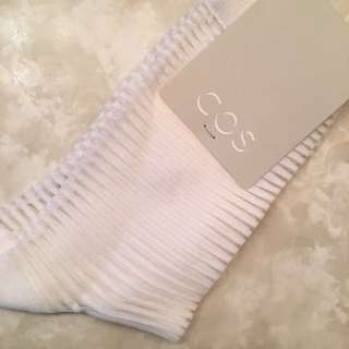 BNWT COS White Stripe Socks