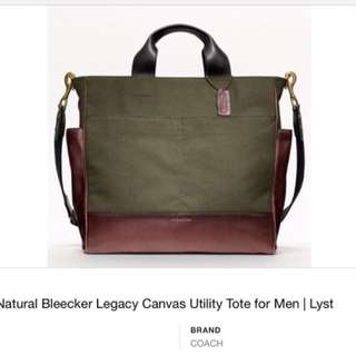 Authentic Coach Bleeker Canvas/leather Tote