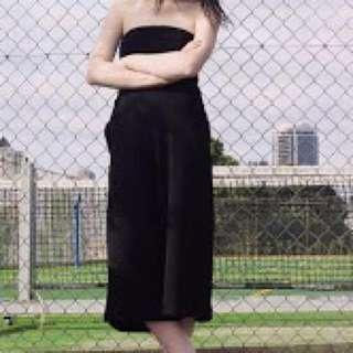Black Zara strapless Jumpsuit