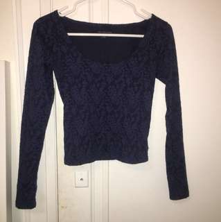 American Eagle tight low neck top