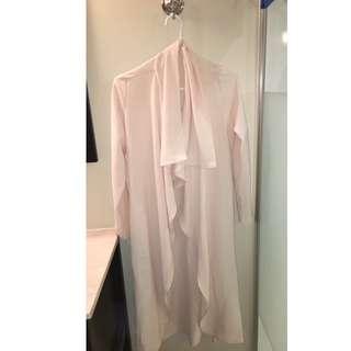 Light pink Mendocino long cardigan