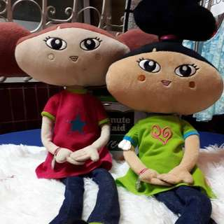 Stuffed Dolls with spaghetti legs (set of 2)