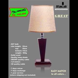Great, Lampu Meja