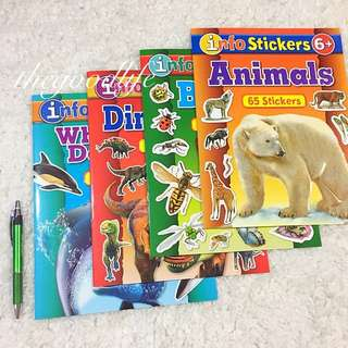Set of 4 Info Stickers Facts and Activity Books
