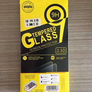 iPhone Tempered Glass and Transparent Case