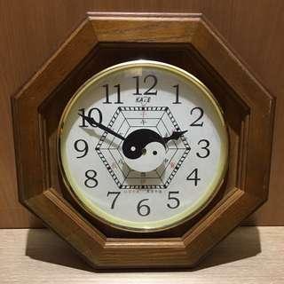超級實木八卦鐘 實木時鐘 裝置藝術 造型背景