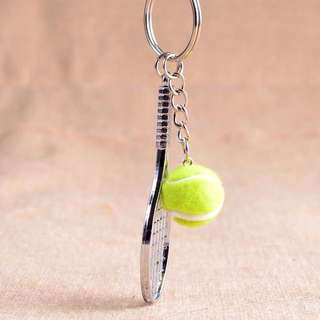Tennis racket key chains
