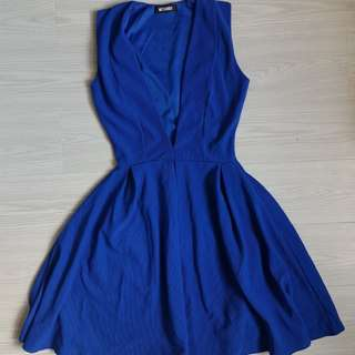 Missguided royal blue dress size 4-6