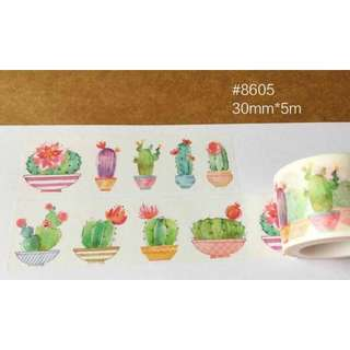 Washi Tapes Succulent
