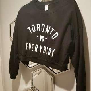 Best offer!!! 10/10 toronto vs everybody crop sweatshirt medium black