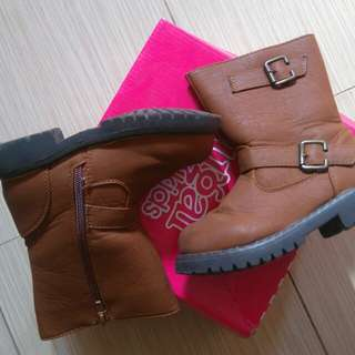 Sugar Kids Brown Boots for Girls