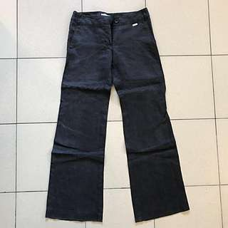 Mango black linen slacks