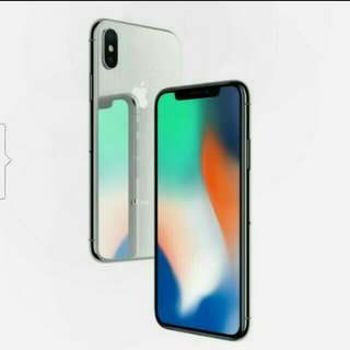 Iphone x silver 256 telco set