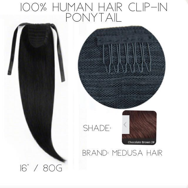 100% Human Hair Clip-in Ponytail