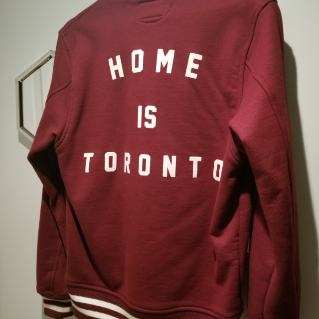 10/10 Peace Collective varsity jacket small burgundy