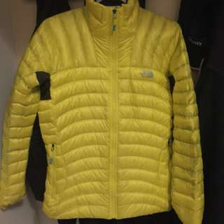 Yellow The North Fave zip up jacket womens medium