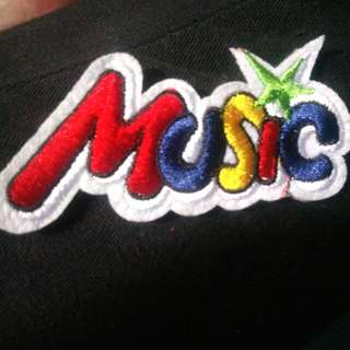 Iron patch #music embroidered