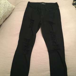 The Casting black ripped jeans
