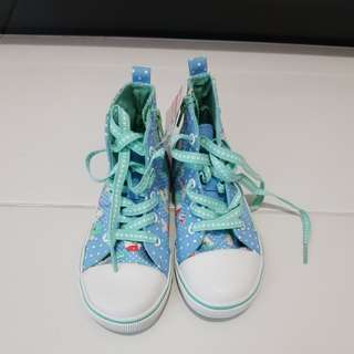 Osh kosh high cut floral sneakers