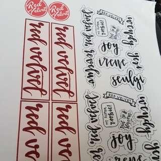 Customer customised stickers @ no minimum - like us facebook - newborn d-esign