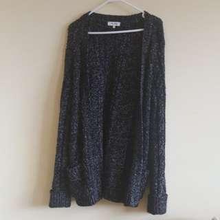 Miss Shop Black Knitted Cardigan Medium Size