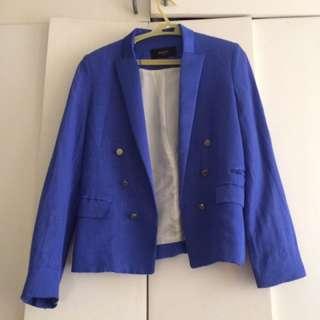 Mango Suit Blue Blazer XS