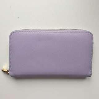 Lilac Zip Wallet