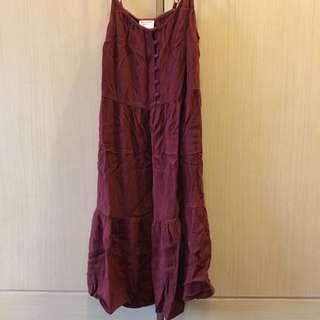 酒紅洋裝(含運)#幫你省運費