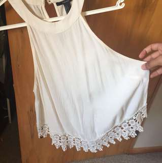 White forever 21 crop