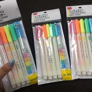 5pcs Highlighter Marker - Pastel colors